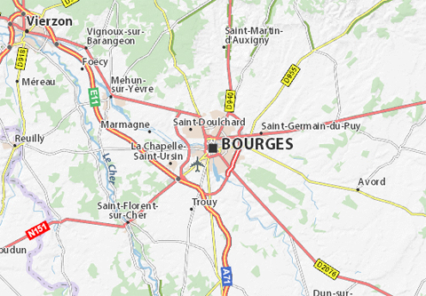 Carte bourges